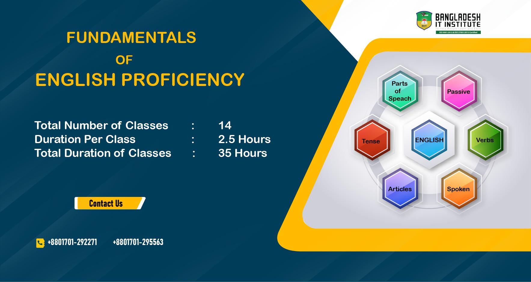 FUNDAMENTALS OF ENGLISH PROFICIENCY